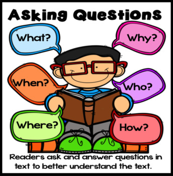 Asking Questions in Text Anchor Chart
