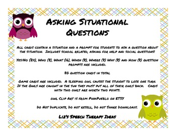 Asking Situational Questions Activity