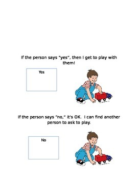 Asking Someone to Play, Social Story