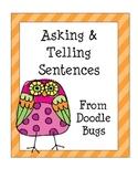 Asking & Telling Sentences Center Activity
