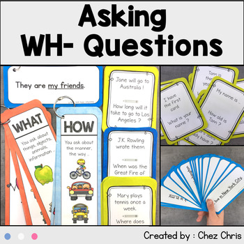 Wh Question Activities & Worksheets | Teachers Pay Teachers