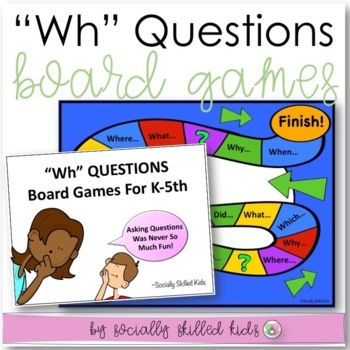 """""""Wh"""" Questions~ Board Games {Differentiated k-5th Grade/Ab"""