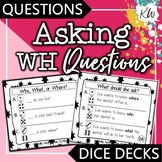 Asking Questions: Speech Therapy Asking WH Questions Game