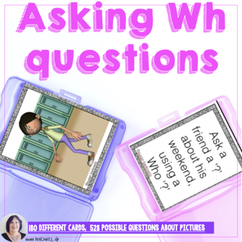 Asking Wh Questions for Speech Therapy Special Education Language Skills