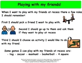 Asking a Friend to Play at Recess - Social Story Package
