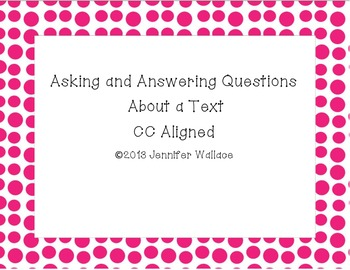 Asking and Answering Questions About a Text RL2.1