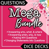 WH Questions Speech Therapy Games: Asking WH Questions, Answering WH Questions