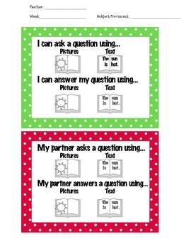 Asking and Answering Questions Checklist (CCSS included!)
