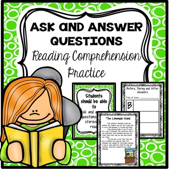 Asking and Answering Questions Reading Comprehension Practice