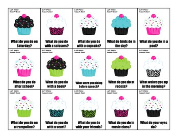 Asking and Answering Questions Cupcakes