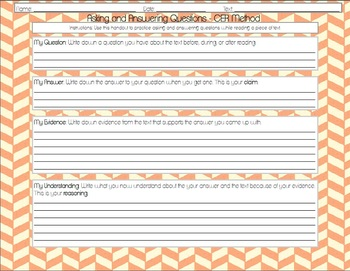 Claims, Evidence, and Reasoning: Asking and Answering Questions Handouts