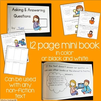 Asking and Answering Questions Interactive Mini Book {RI.3.1}