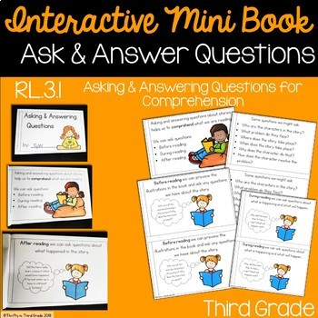 Asking and Answering Questions Interactive Mini Book {RL.3.1}