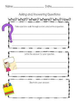 Asking and Answering Questions Learning Log