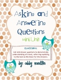 Asking and Answering Questions: Mini-Unit (Aligned with 3rd grade Common Core)