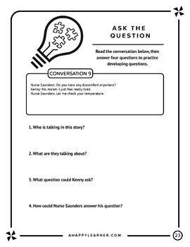 Asking and Answering Questions Social Skills Older Students Speech Therapy