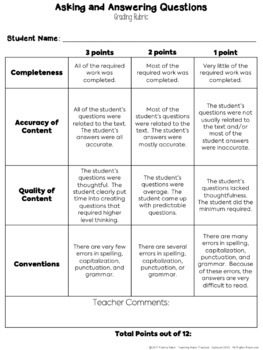Asking and Answering Questions Task Cards - Nonfiction Texts - RI 2.1, RI 3.1