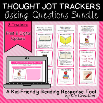 Reading Response: Ask and Answer Questions Bundle - Comprehension Trackers