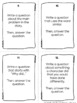 Asking and Answering Questions in Fiction Text - RL 2.1, RL 3.1