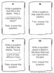 Asking and Answering Questions in Fiction Text Task Cards - RL 2.1, RL 3.1