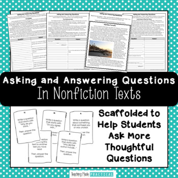 Asking and Answering Questions in Nonfiction Texts - RI 2.1, RI 3.1