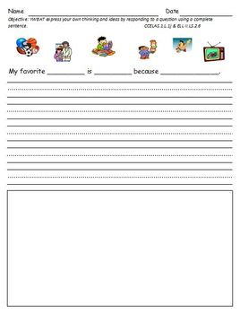 Asking and Responding to Questions an Oral Language Activity