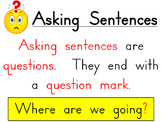 Asking and Telling Sentence Posters
