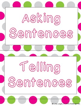Asking and Telling Sentence Sort