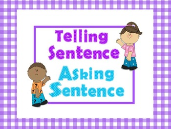 Asking and Telling Sentences Mini Lesson and Practice POWERPOINT