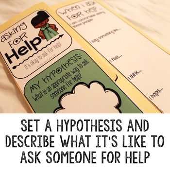 Asking for Help Social Skills Lap Book - Elementary School Counseling