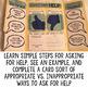 Asking for Help Social Skills Lap Book - Elementary School
