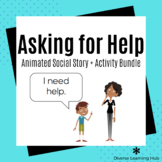 Asking for Help Social Story + Activity Bundle for Special Education