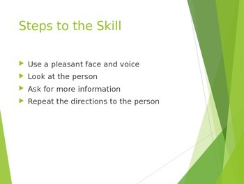 Social Skills - Asking for Help and Directions PowerPoint