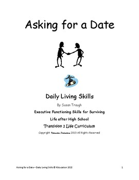 """""""Asking for a Date"""" Mini Lesson from Safe Dating Workbook"""