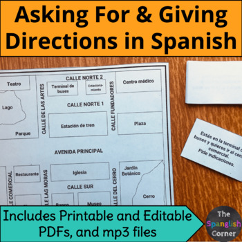 Asking for and giving directions in Spanish (mp3 included) | Intermediate level