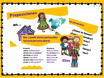 Asking for and giving personal information in Spanish.