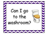 Asking for permission in the classroom.