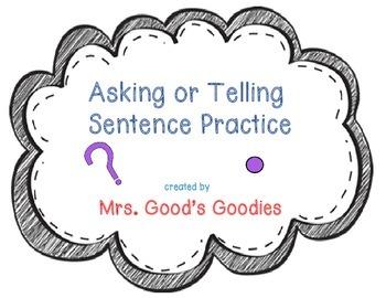 Asking or Telling Sentence Practice