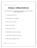 Asking versus Telling Sentences