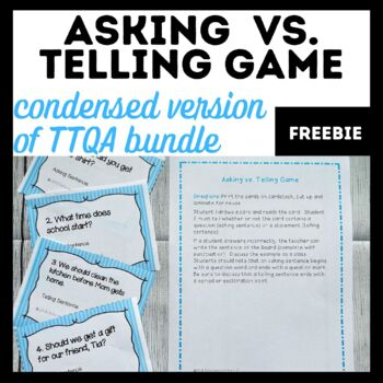 Asking vs. Telling Game-Free Sample of our TTQA Unit
