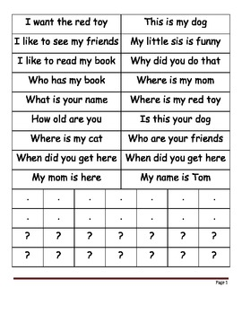 Asking vs. Telling Sentences
