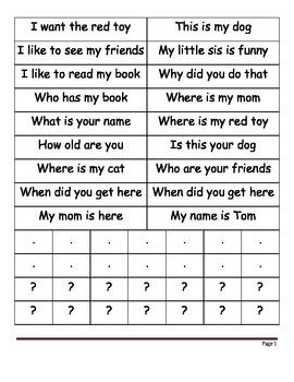 Asking vs. Telling Sentences