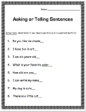 Asking -vs- Telling Sentences