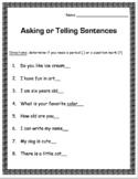 Asking -vs- Telling Sentences