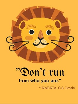 Aslan the Lion Narnia Growth Mindset Classroom Decor Theme C.S. Lewis