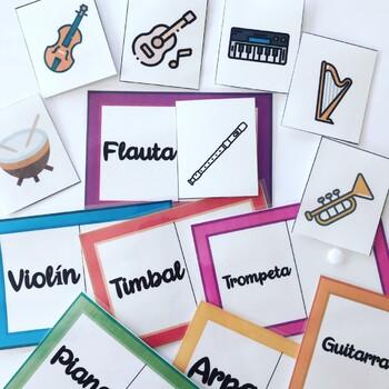 Asociación palabra-imagen Instrumentos musicales