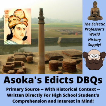 Asoka's Edicts Primary Source Document Based Questions