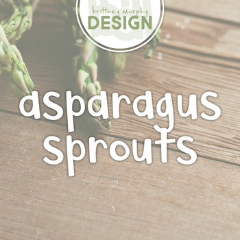 Asparagus Sprouts Font for Commercial Use