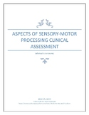 Aspects of Sensory Processing, (Informal) Clinical Assessment