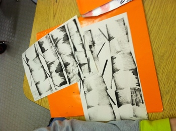 Aspen-Birch Tree Winter Art Project with VIDEO Instructions (download and link)